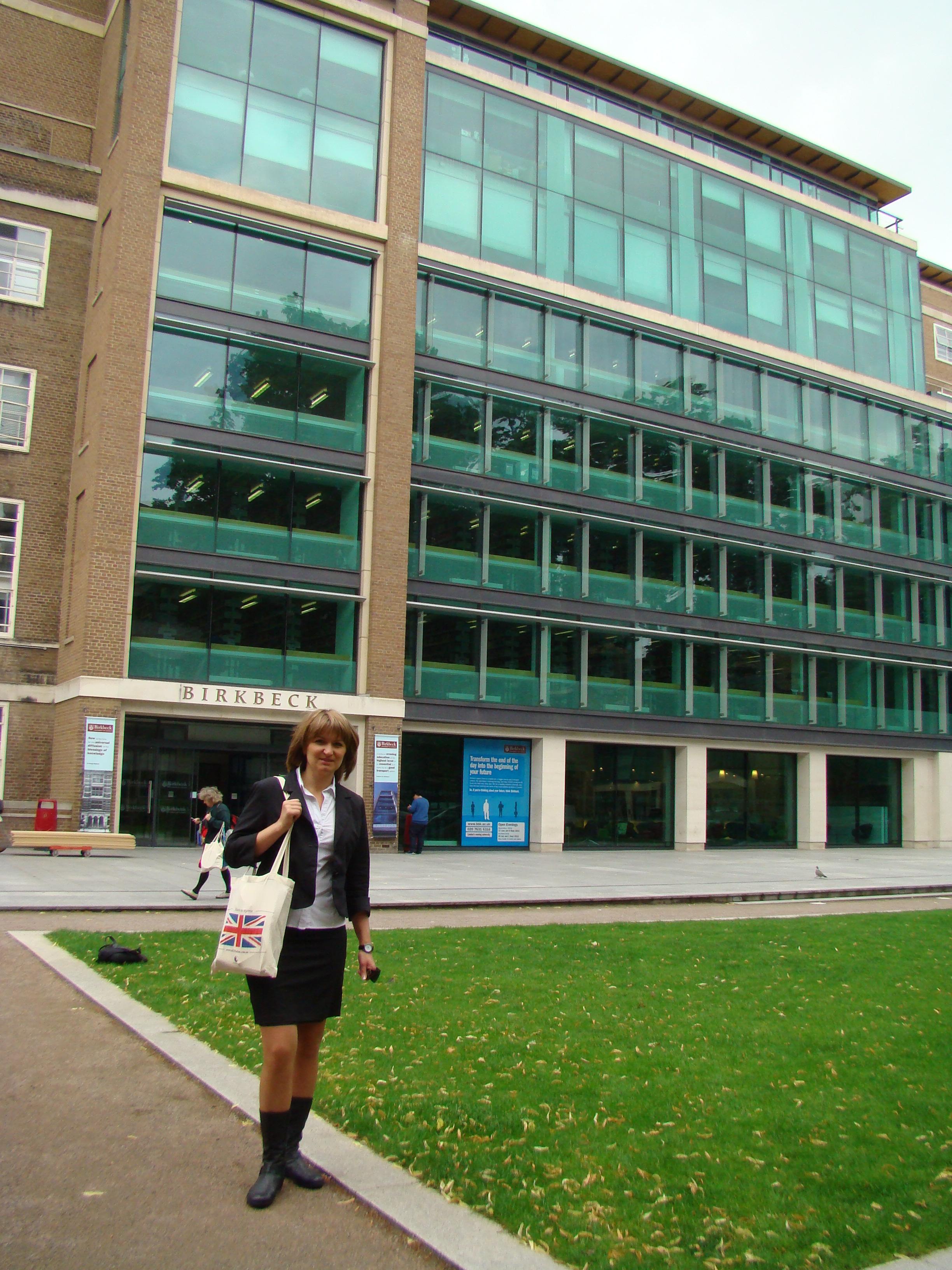 Я, Наталья Мюллер, возле Birkbeck University