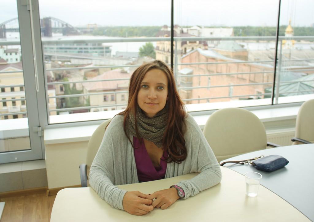 """Мария Пашолок в офисе """"Бизнес-Линка"""""""