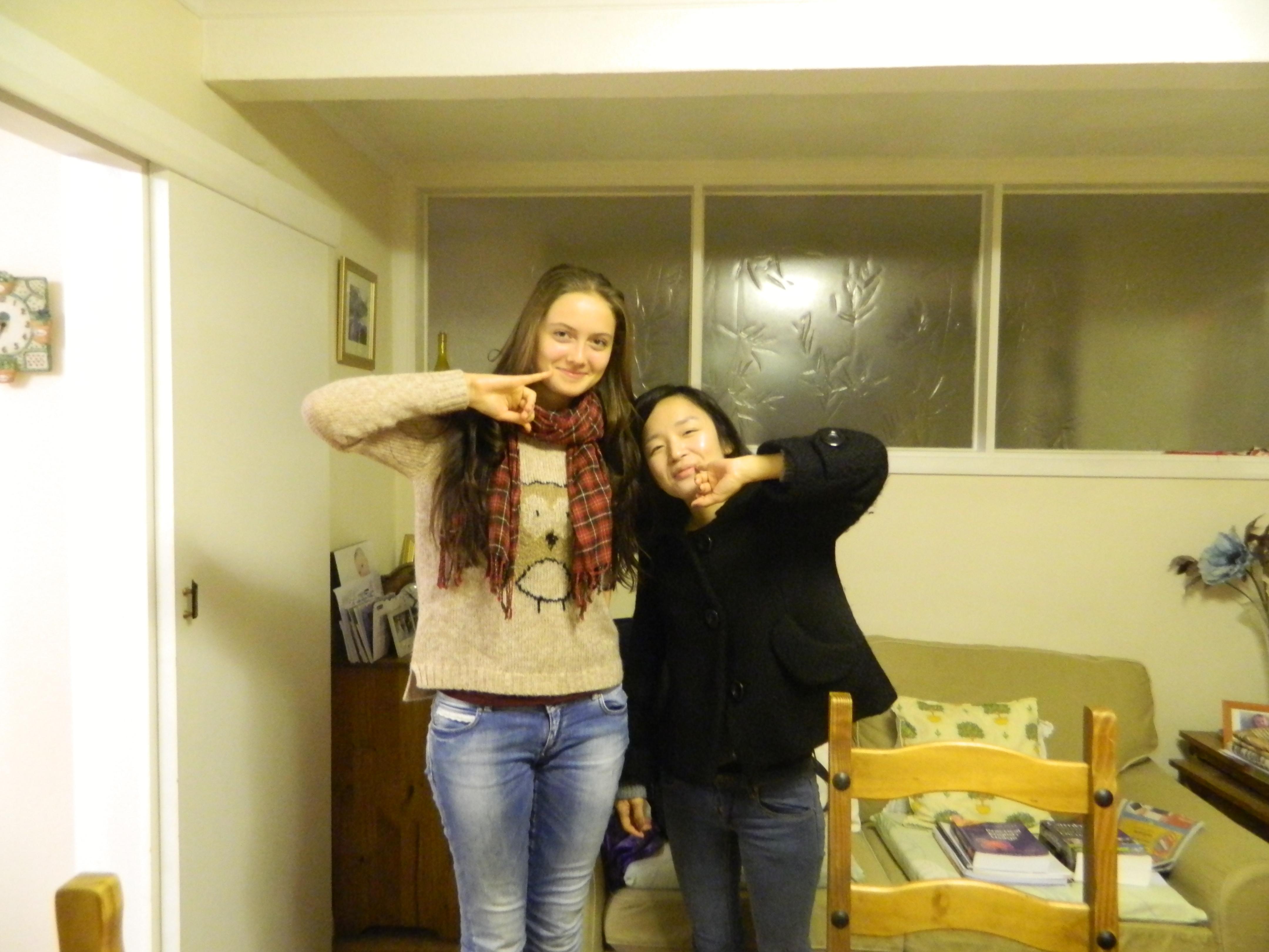 Я со своей новой подругой из Кореи
