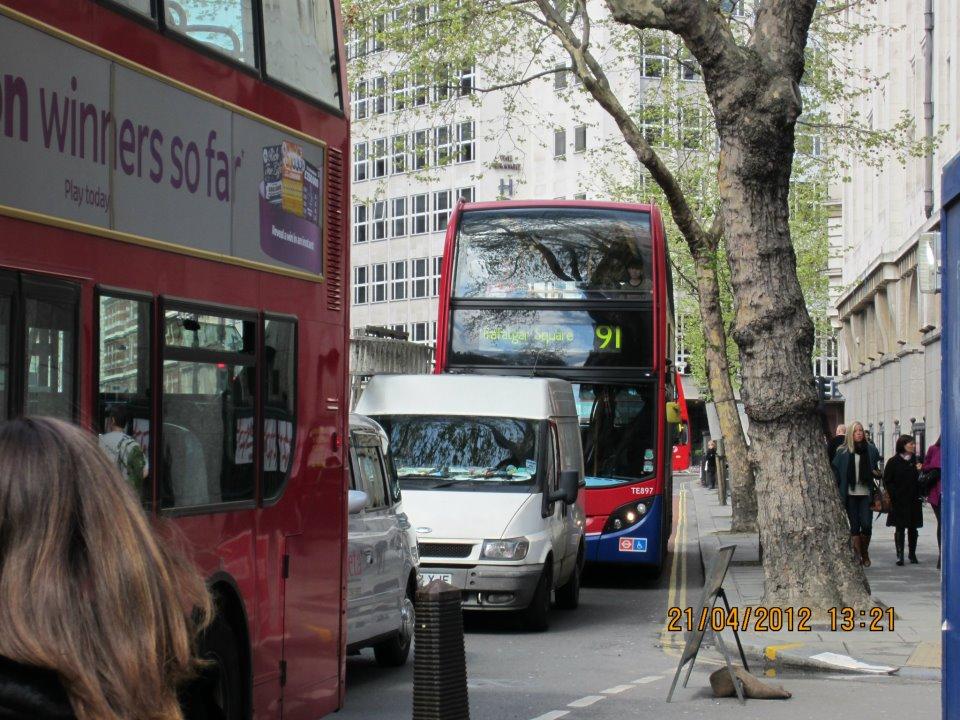 Bus 91 Crouch End-Trafalgar Square