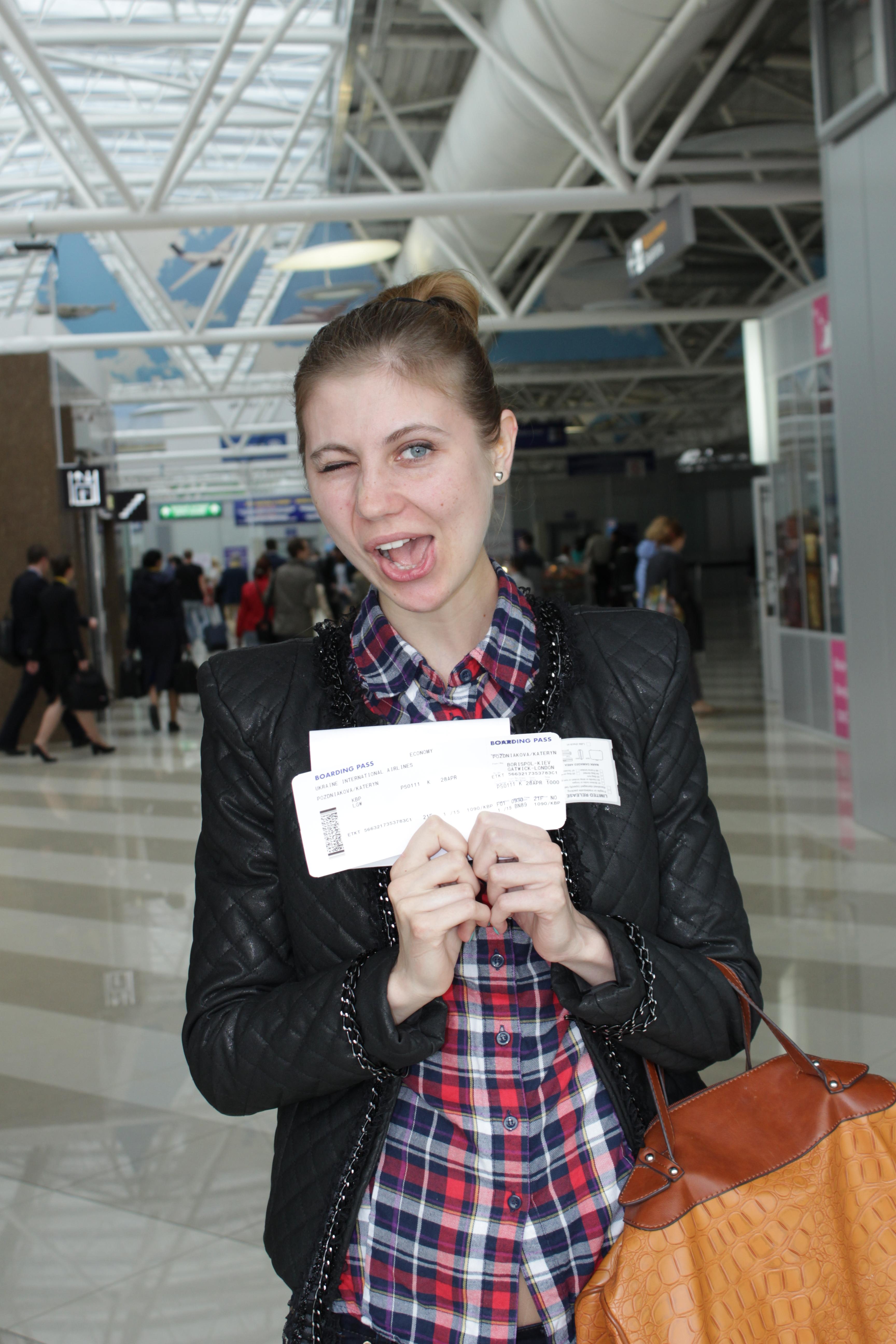 Я с билетами в преддверии путешествия