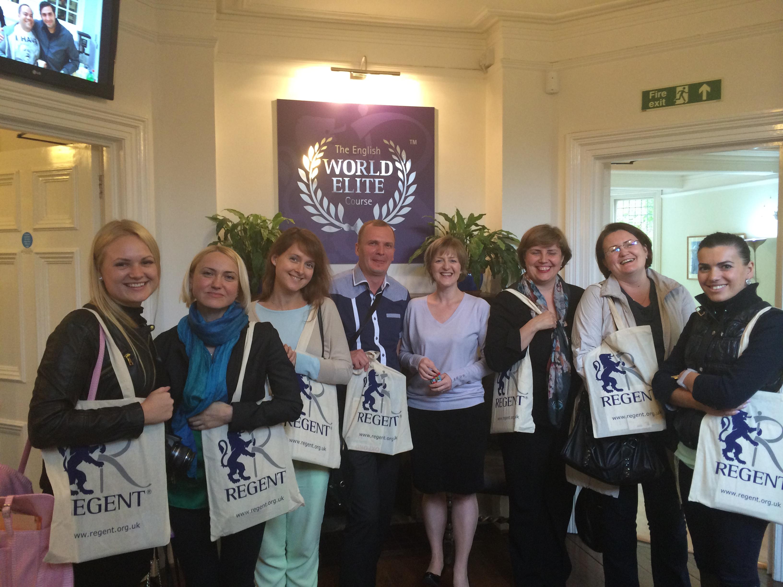 Наша группа в Regent Oxford
