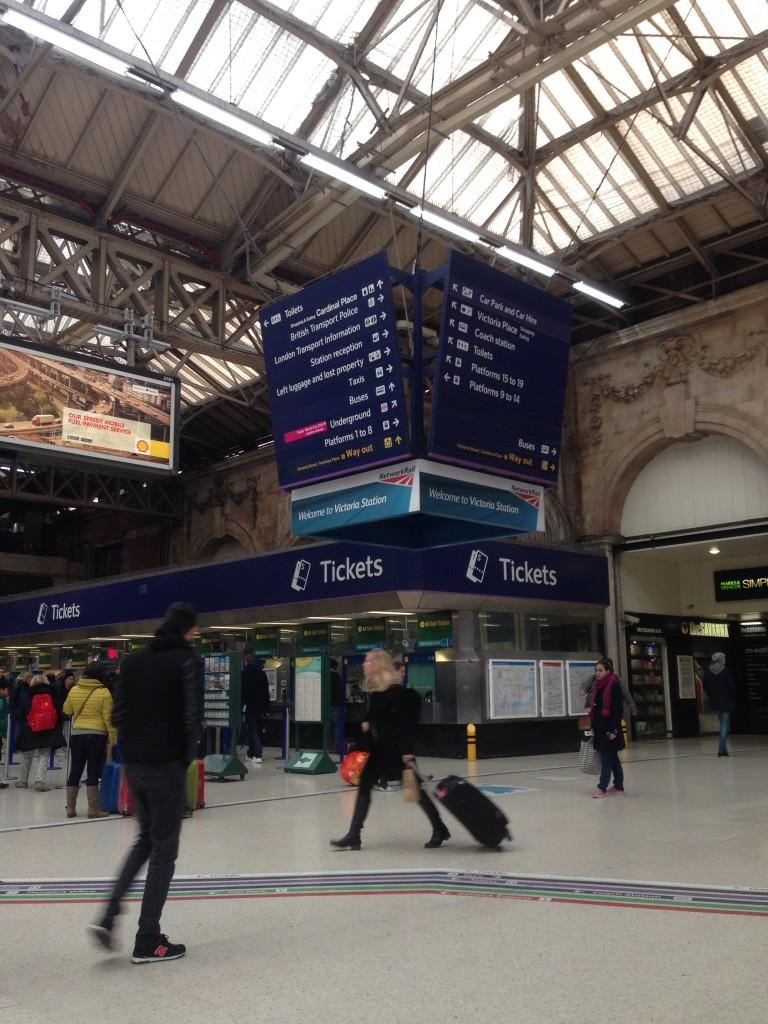 "Ж/д вокзал ""Виктория"" в Лондоне"