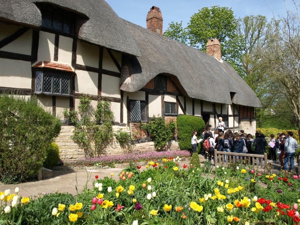 Дом детства супруги Шекспира Анны Хэтэуэй, где за ней ухаживал драматург