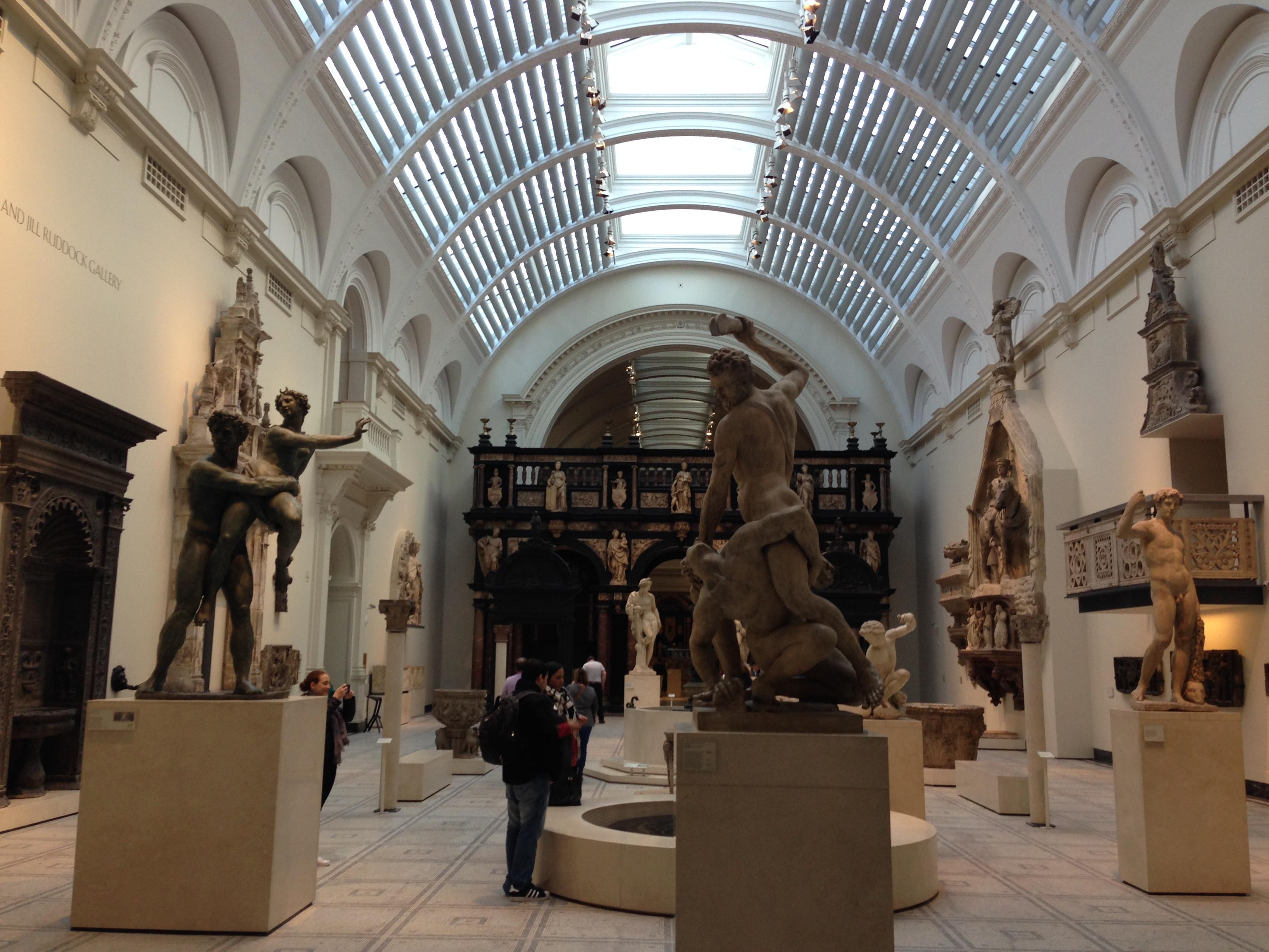 Экспозиция в музее Виктории и Альберта