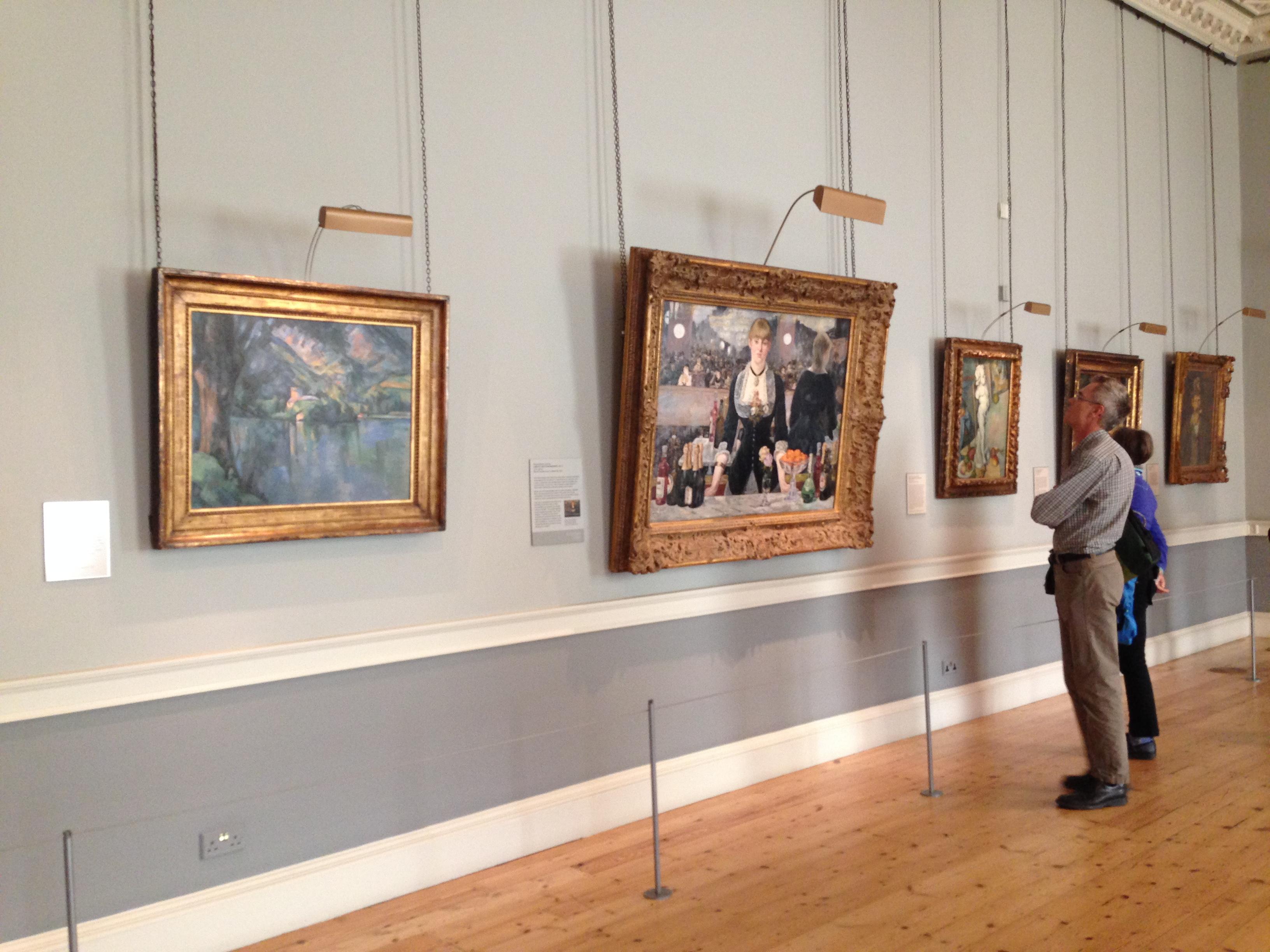 Экспозиция в Институте искусства Курто