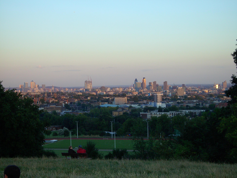 Вид с Парламентского холма на центр Лондона