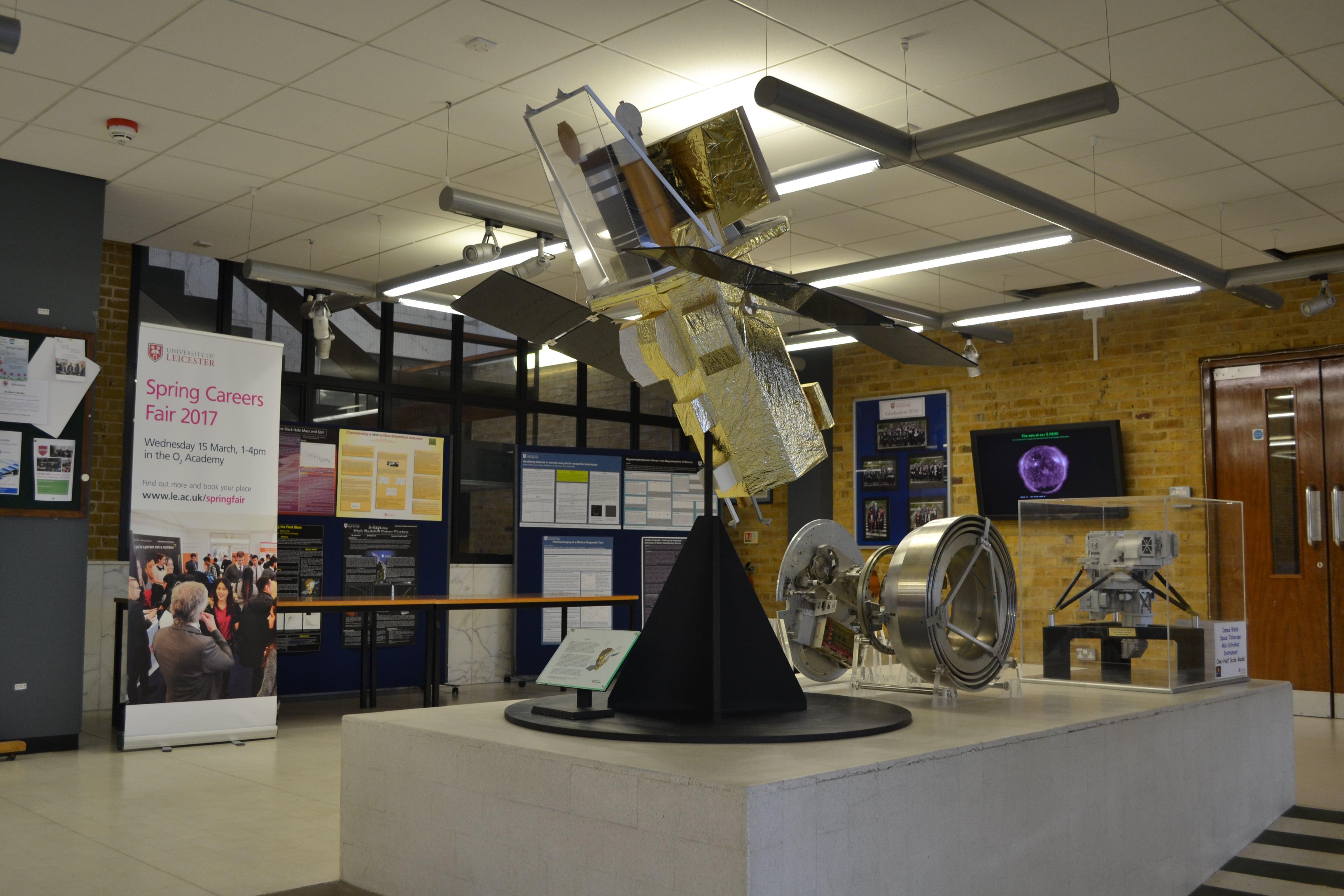 Внутри здания факультета физики и астрономии