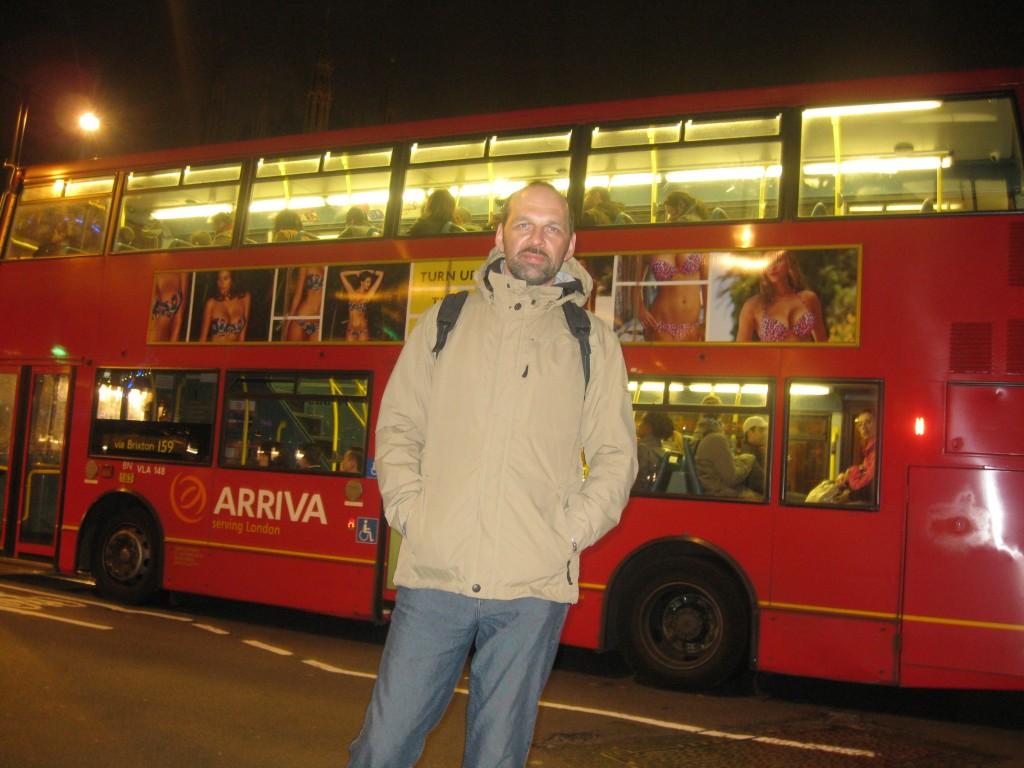 Валерий на фоне лондонских достопримечательностей