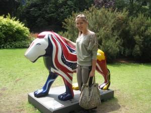 Один из львов в центральном парке Борнмута