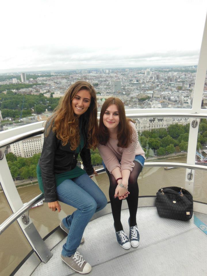London Eye, моя «одноклассница» Сара и я