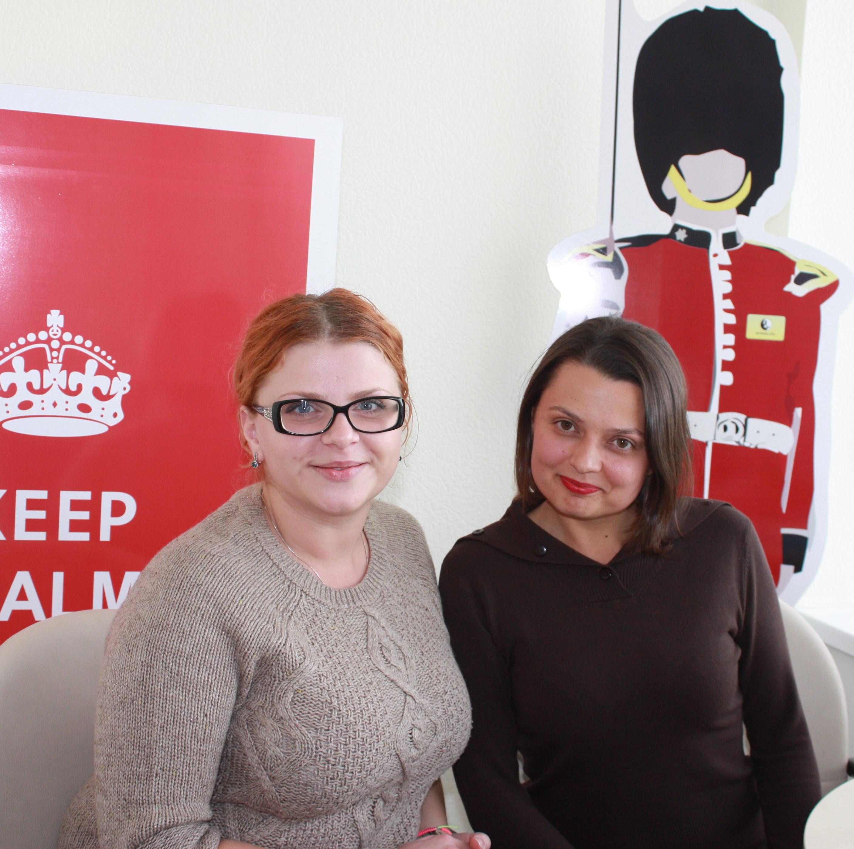 Оксана Кошель, эксперт «Бизнес-Линка» по британскому образованию, и Мария