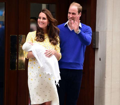 Принцесса Шарлотта с родителями