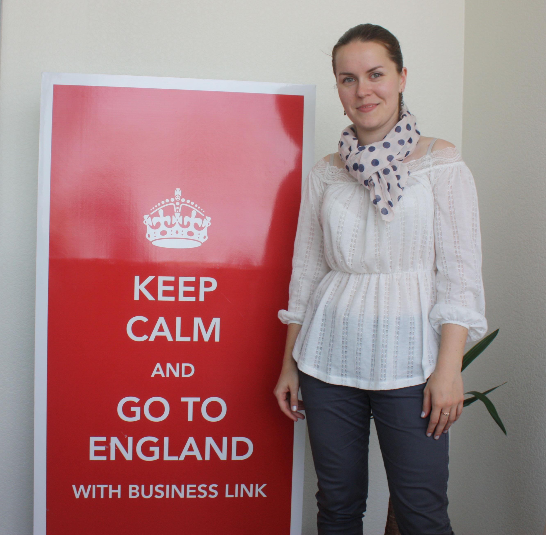 """Катерина Пилипенко в офісі """"Бізнес-Лінка"""""""