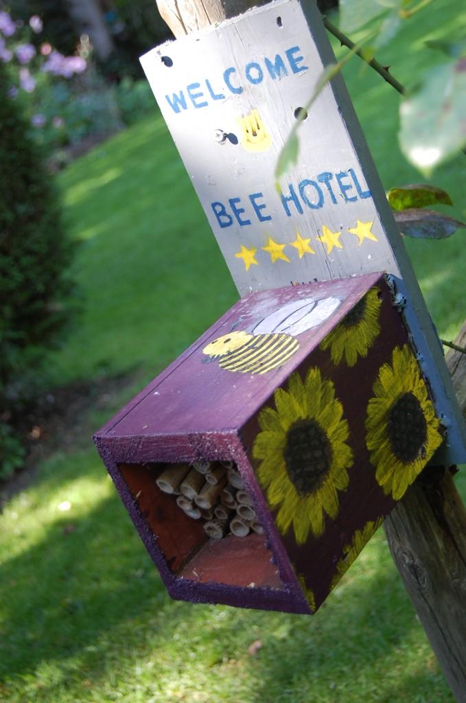А это настоящий пчелиный дом, сделанный одним из учеников школы