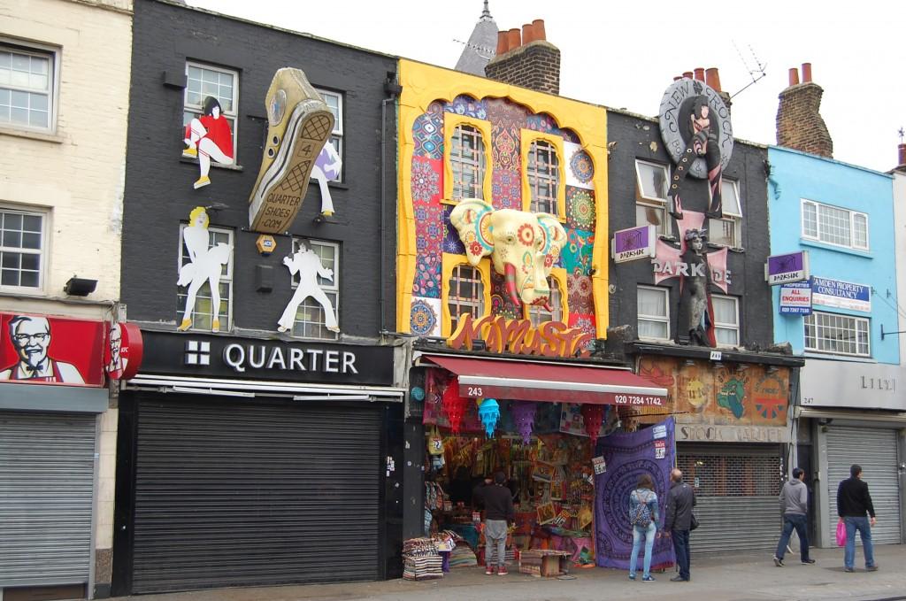 Camden – очень яркий район Лондона, здесь жила и творила Эми Вайнхаус