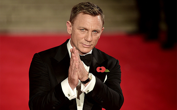 Like Daniel Craig, the modern man should know how to tie his own bow tie  Photo AFP